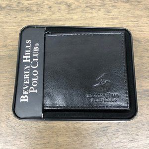 Black Leather Polo Wallet